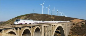 A high speed train, driven by renewables , could look like this.
